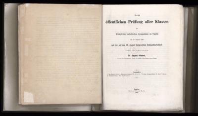 Zu der öffentlichen Prüfung aller Klassen des Königlichen katholischen Gymnasiums zu Oppeln am 15. August 1865 und der auf den 16. August festgesetzten Schlussfeierlichkeit