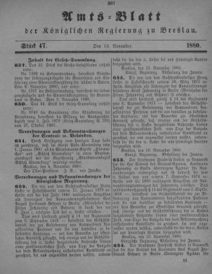 Amstblatt der Königlichen Regierung zu Breslau. Stück 47