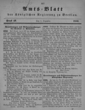 Amstblatt der Königlichen Regierung zu Breslau. Stück 49