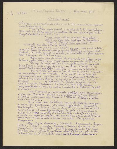 Gazeto Loubetenco. - n°34,  Mai 1916