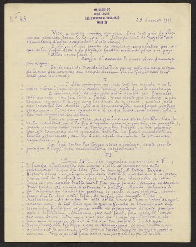 Gazeto Loubetenco. - n°43,  Avoust 1916