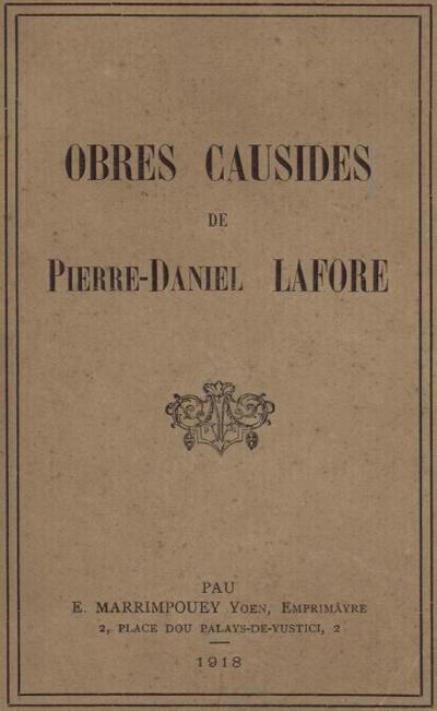 Obres causides / de Pierre-Daniel Lafore