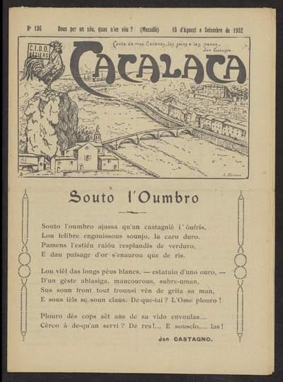 Cacalaca. -  N°136 (Agoust e Setembre 1932)