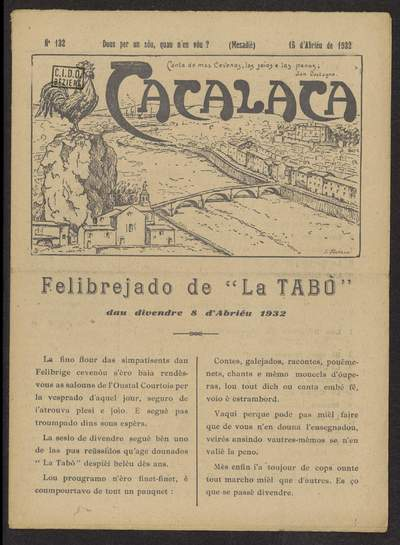 Cacalaca. -  N°132 (Abriéu 1932)