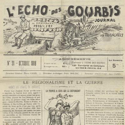 L'Echo des Gourbis. - N°21 (octobre 1916)