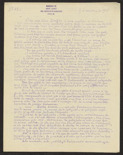 Gazeto Loubetenco. - n°42,  Avoust 1916