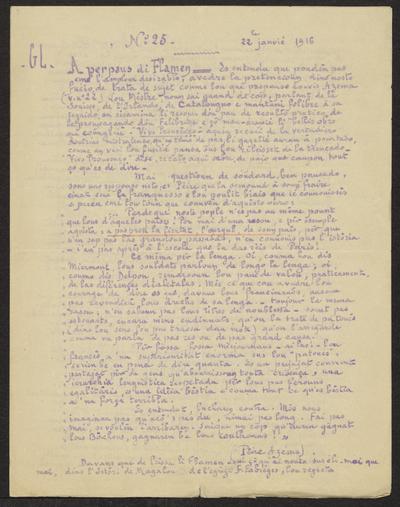 Gazeto Loubetenco. - n°25,  Janvié 1916