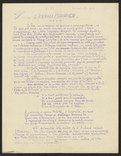 Gazeto Loubetenco. - n°21,  Desèmbre 1915