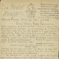 Lou Boulet Rouge dóu Liò-Tenènt Teissier 12e Cie 416e S.P. 198. - n°19,  Janvié 1919