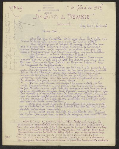 Gazeto Loubetenco. - n°49,  Febrié 1917