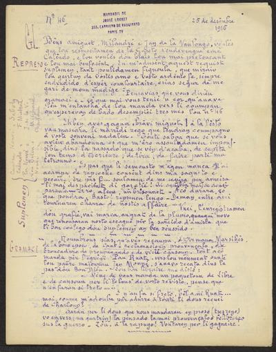 Gazeto Loubetenco. - n°46,  Decèmbre 1916