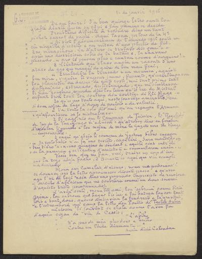 Gazeto Loubetenco. - n°24,  Janvié 1916