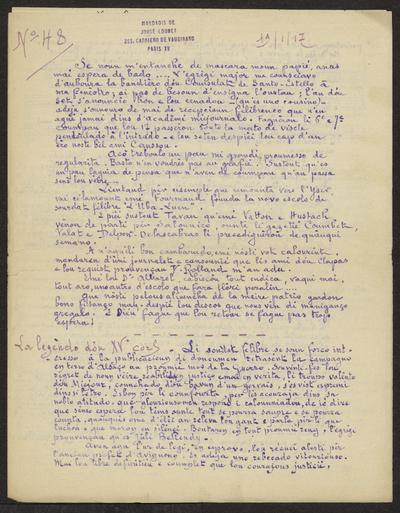 Gazeto Loubetenco. - n°48,  Janvié 1917