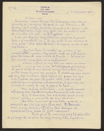 Gazeto Loubetenco. - n°41,  Avoust 1916