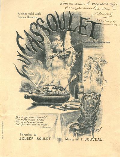 Lou Cassoulet [Musique imprimée] : Cansouneta lengadouciana / Paraulas de Jousèp Soulet ; Musica de F. Jouveau ; E. Marsal, ill.