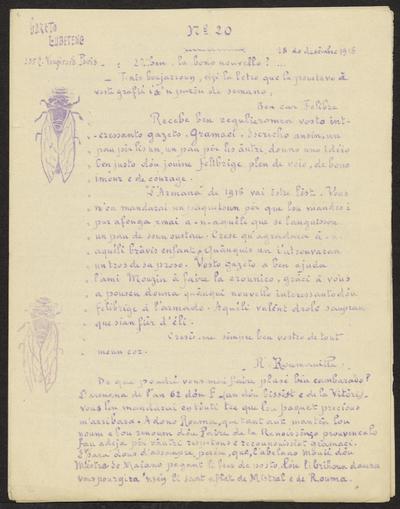 Gazeto Loubetenco. - n°20,  Desèmbre 1915
