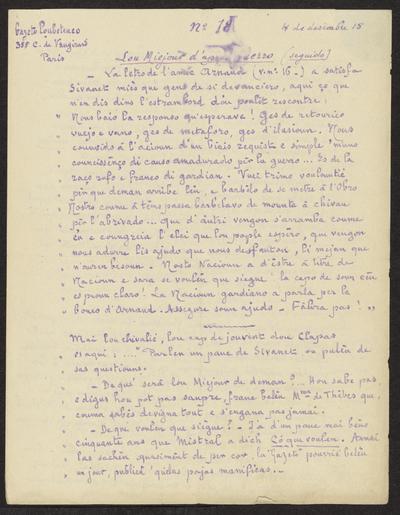 Gazeto Loubetenco. - n°18,  Desèmbre 1915