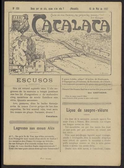 Cacalaca. -  N°133 (Mai 1932)