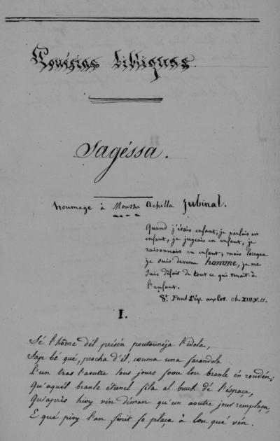Poésies languedociennes et gasconnes / Peyrottes