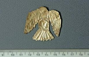 Златна пластина - птица.