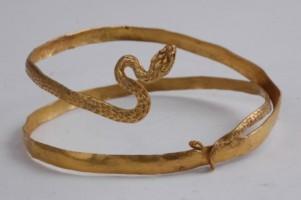 Златна гривна - змия.