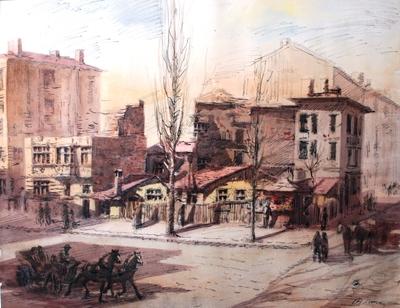 Стари къщички бул.Толбухини ул.Гурко.