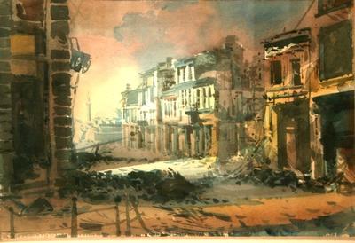Бомбардираната улицаТърговска.