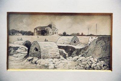 Църквата Св. София с некропола.