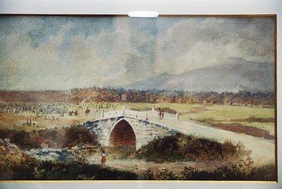 Самоковският мост с гробищата.