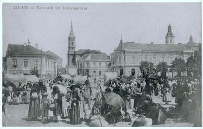 Zalău - P-ţa Kossuth - azi P-ţa Iuliu Maniu