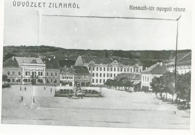 Centrul istoric al municipiului Zalău, P-ța Kossuth - partea vestică, azi P-ța Iuliu Maniu