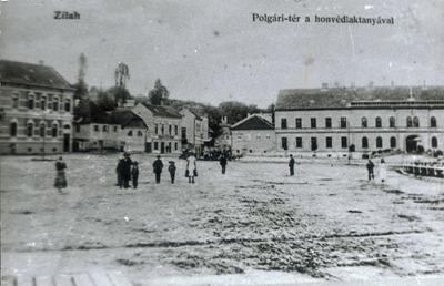 Centrul istoric al municipiului Zalău P-ța Polgári, azi P-ța 1 Decembrie