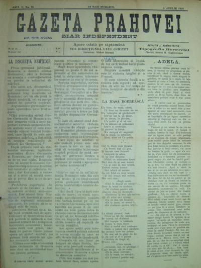 Gazeta Prahovei, Anul II, No. 75
