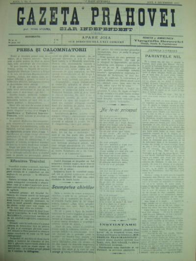 Gazeta Prahovei, Anul I, No. 6