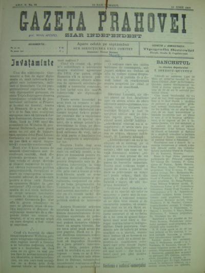 Gazeta Prahovei, Anul II, No.81