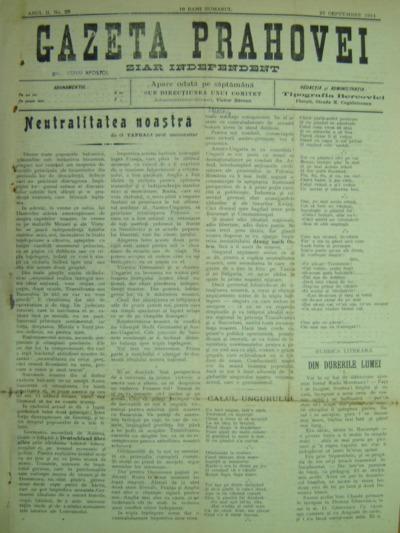 Gazeta Prahovei, Anul II, No.28