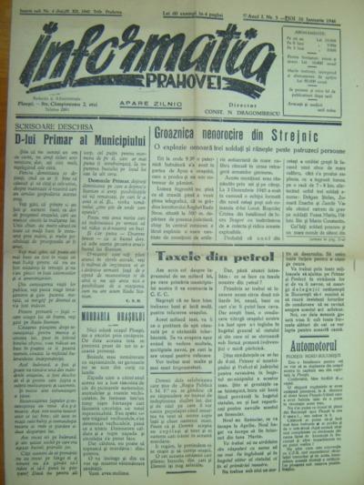 Informația Prahovei, Anul I, Nr.5
