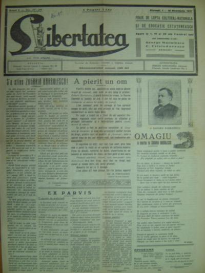 Libertatea, Anul I, Nr. 27-29