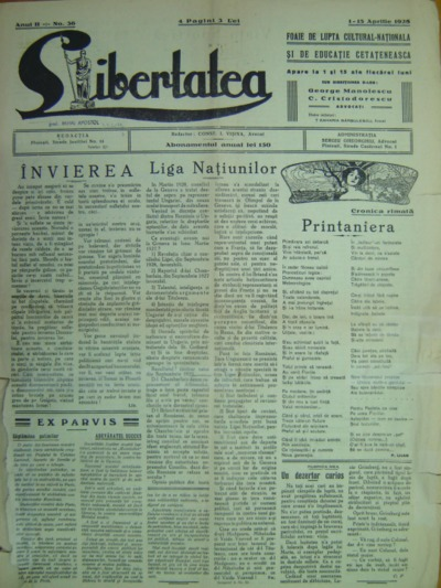Libertatea, Anul II, No.36