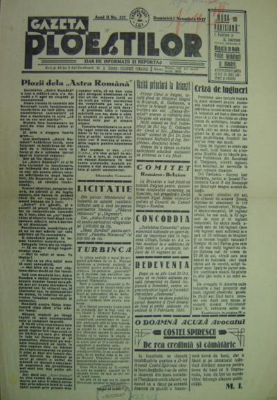 Gazeta Ploieștilor, Anul II, No. 217
