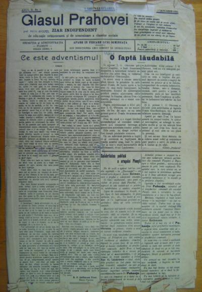 Glasul Prahovei, Anul II, No.1