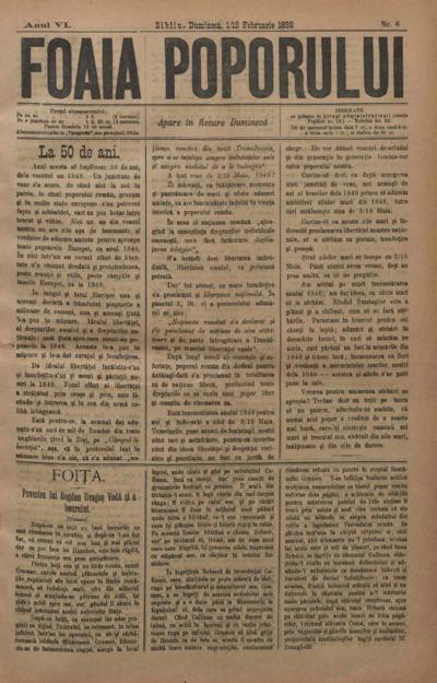 Foaia Poporului, anul VI, nr. 6