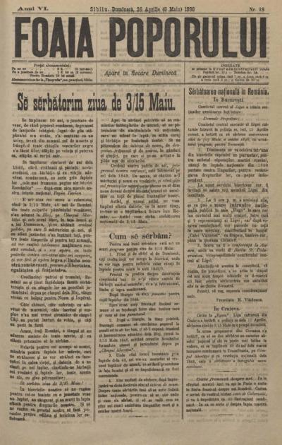 Foaia Poporului, anul VI, nr. 18