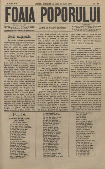 Foaia Poporului, anul VI, nr. 26