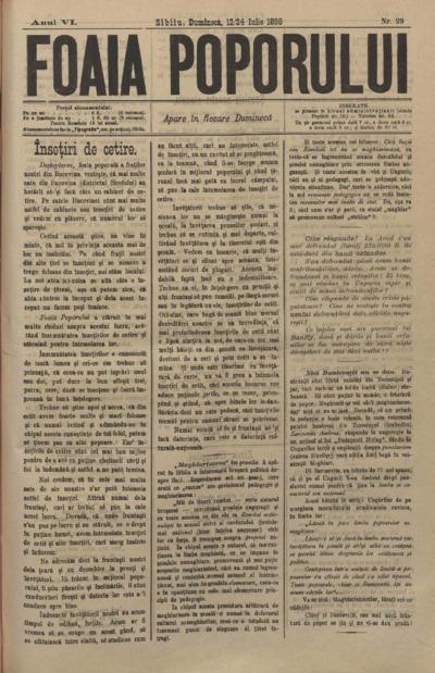 Foaia Poporului, anul VI, nr. 29