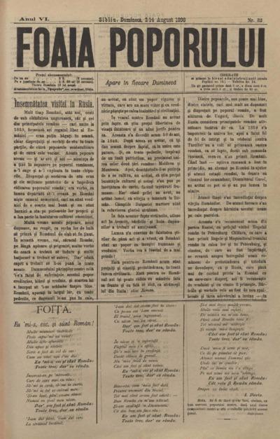 Foaia Poporului, anul VI, nr. 32