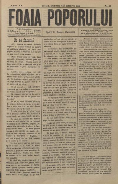 Foaia Poporului, anul VI, nr. 41