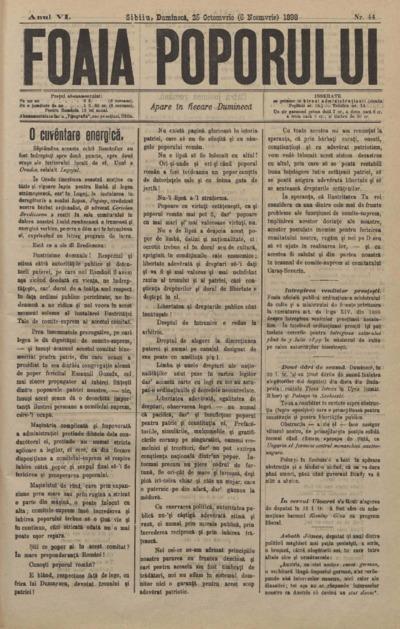 Foaia Poporului, anul VI, nr. 44