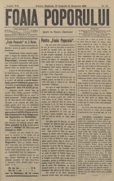 Foaia Poporului, anul VI, nr. 49