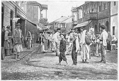 Stradă din Horezu în secolul XIX